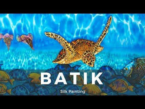 BATIK SILK PAINTING WITH JEAN-BAPTISTE – FINE ART – AKUMAL