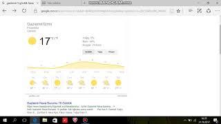 İzmir Gaziemir 5 günlük hava durumu