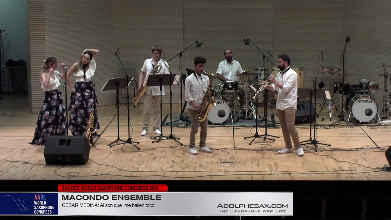 Al son que me bailen tocó by Cesar Medina   Macondo Ensemble   XVIII World Sax Congress 2018 #adolp
