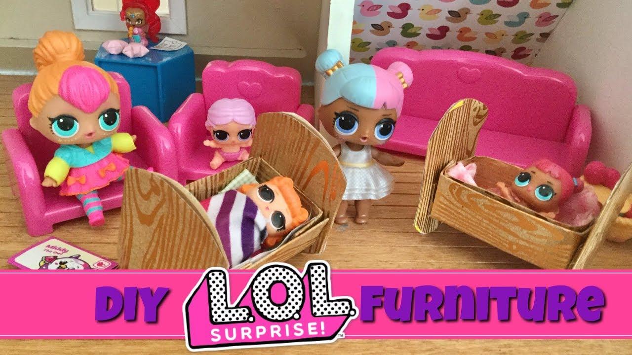 Diy Lol Surprise Doll Crib Nursery Furniture Craft Tutorial
