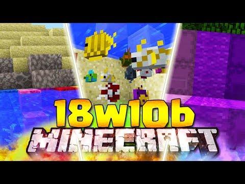 5 NUOVI BLOCCHI - Minecraft ITA - 18w10b: Tutti i Pesci, Suoni, Shulker Incolore