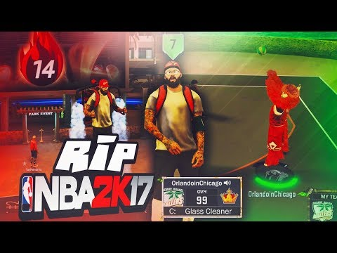I PLAYED THE LAST GAME OF NBA 2K17 BEFORE THE SERVERS WENT DOWN! THE FIRST LEGEND
