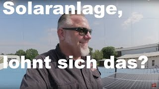Solaranlage für meine Gewerbehalle, lohnt sich das ?