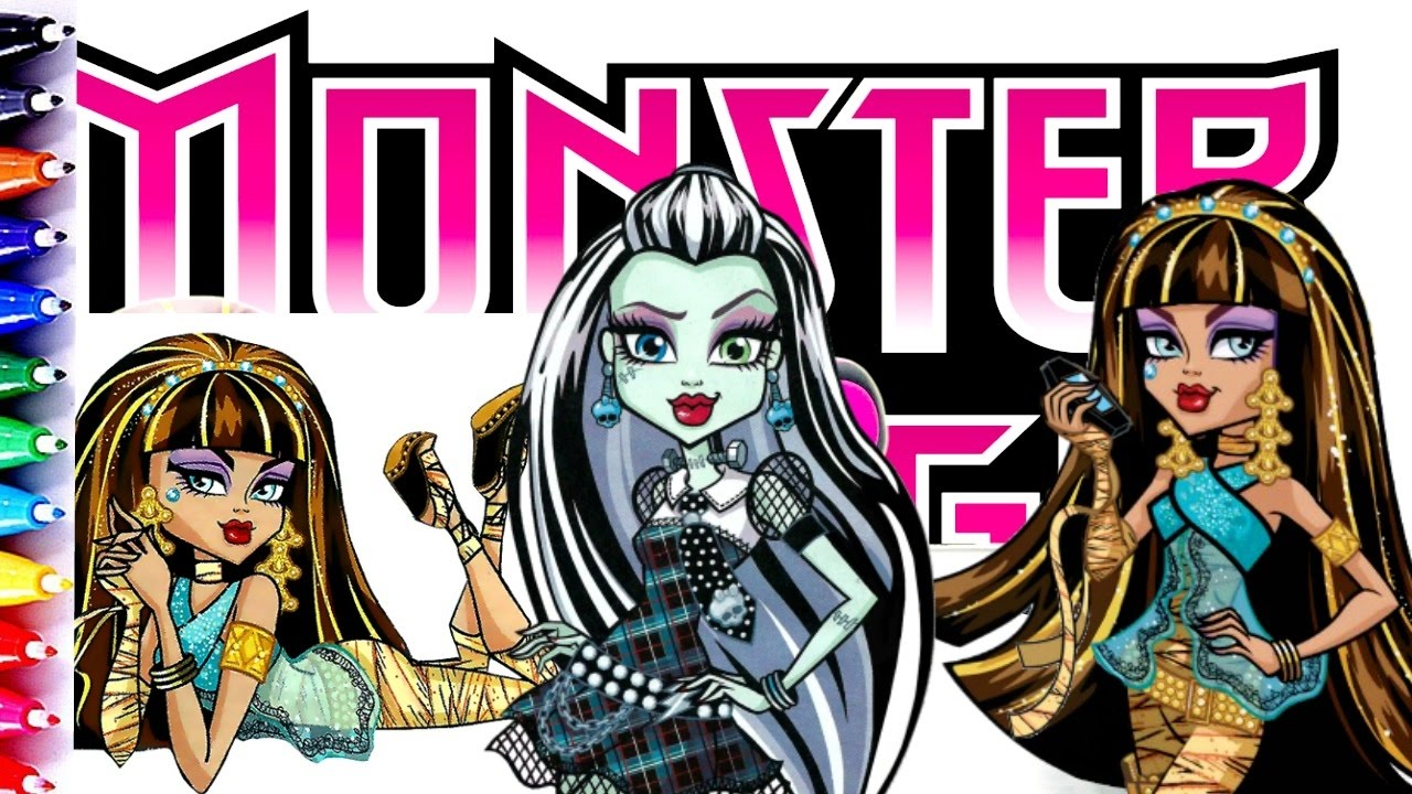 Monster High Cleo De Nile and Frankie Coloring Book Pages Fun for ...