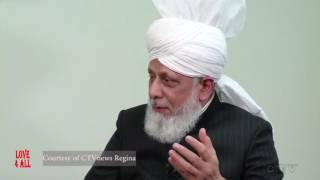 CTV News Regina - Extended Interview with the Caliph Hazrat Mirza Masroor Ahmad(aba)
