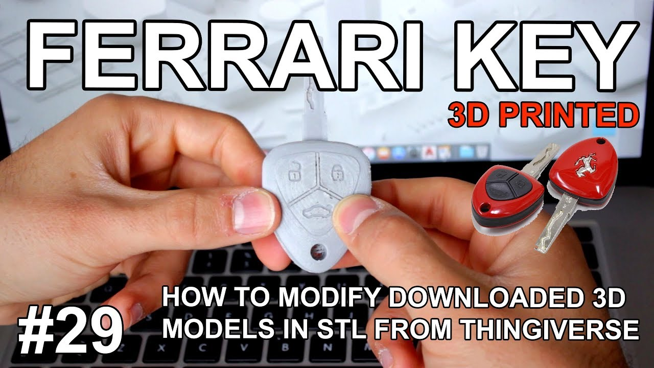 How to modify STL 3D Models - Ferrari Key • Architects3DP