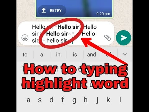 How To Typing Highlight Word.highligh Facebook Caption.high Light Fb Comment . Text Message