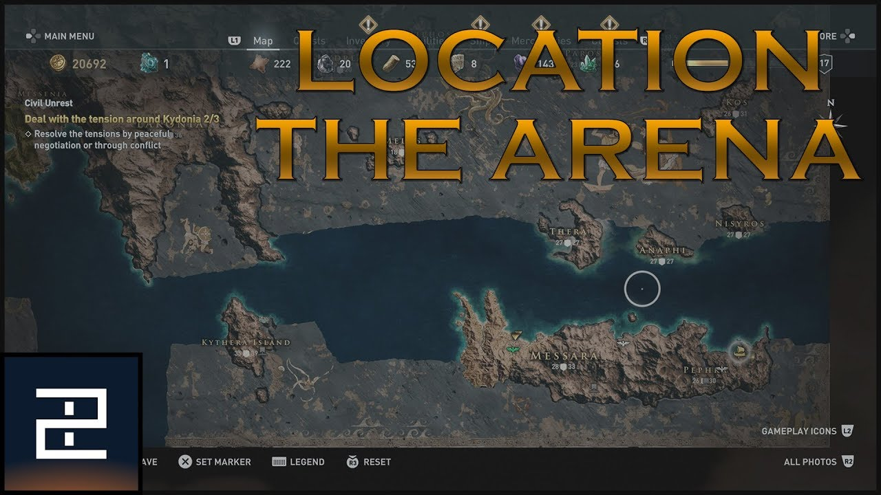 Assassin S Creed Odyssey Karte.Assassin S Creed Odyssey The Arena Location