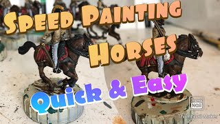 How I Speed paint my Brown Horses.