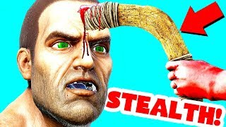 SNEAKING INTO BASES USING A BOOMERANG! (Ark Survival Evolved Trolling)