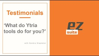 Kendra Stapleton, IBM Notes developer, talks about how she uses Ytria tools.