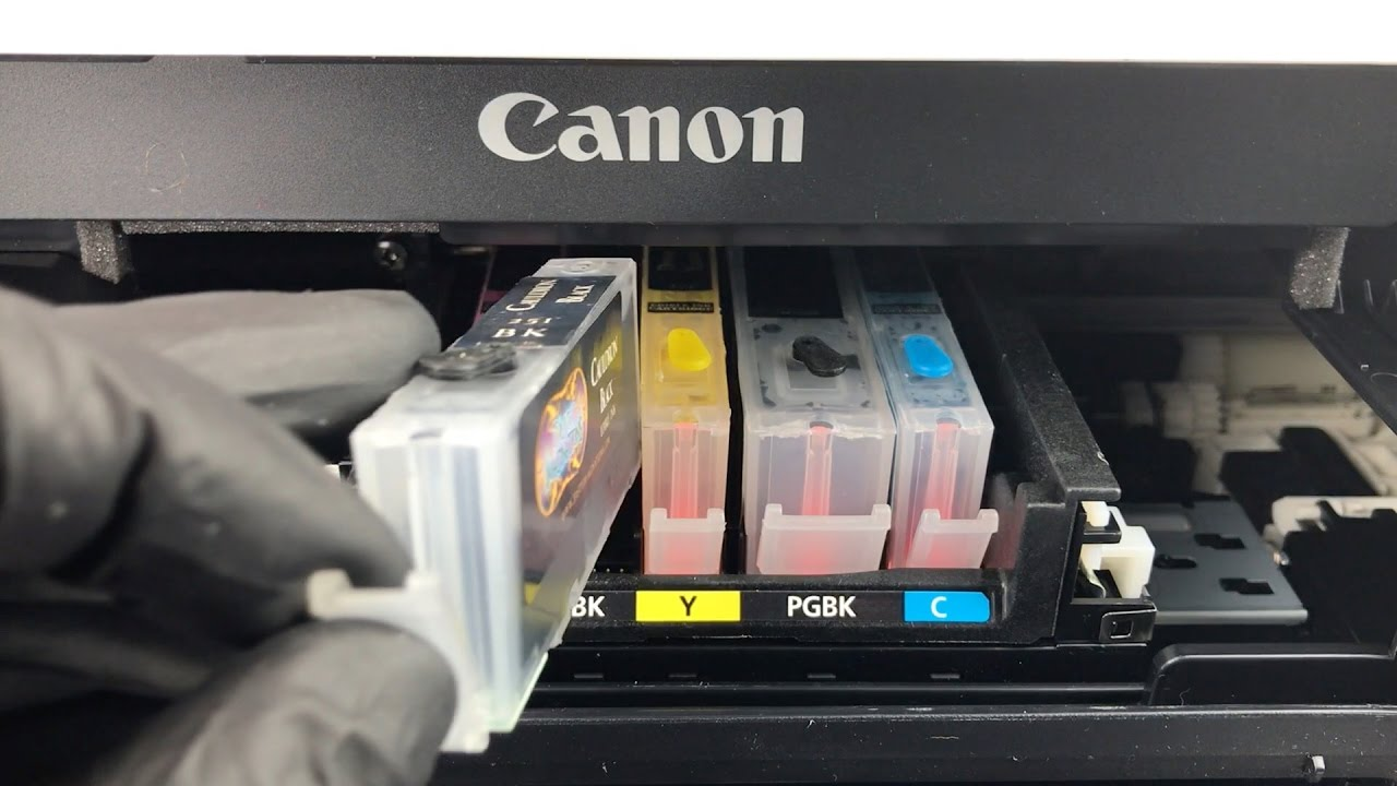How To Install Canon Edible Ink Cartridges Youtube