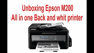 ePSON M 200 INKTANK PRINTER UNBOXING & REVIEW