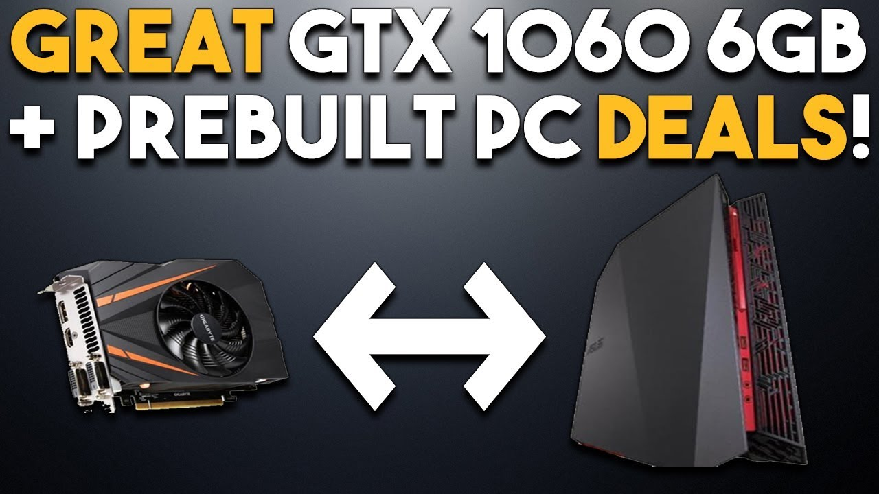 GREAT GTX 1060 6GB Sale + PreBuilt PC Deals and GUNDAM Announced for PC!