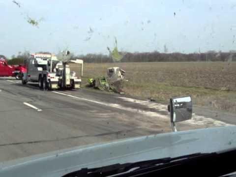 Truck crash Ohio Turnpike I-80 I-90