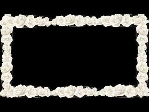 Футаж Рамка белые розы
