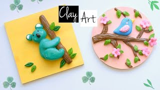 How to work with clay step by step | Beautiful polymer clay art ideas |  Clay bear tutorial
