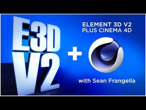 Element 3D V2 Tutorial - Importing Cinema 4D Models & Animations (After Effects) - Sean Frangella