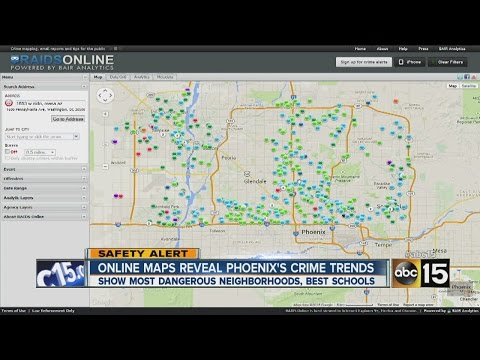 Online map reveals Phoenix's crime trends