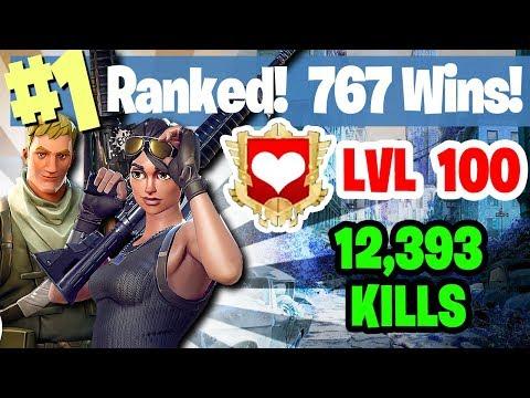 #1 World Ranked - 767 Wins - 12,393 Kills - Level 100 - Sponsor Goal 363/400