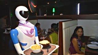 Роботы-официанты - новый сервис в индийском ресторане (новости)