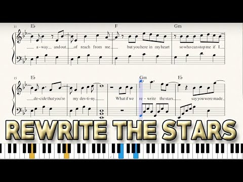 """Rewrite The Stars"" - Sheet Music + Piano Tutorial - The Greatest Showman 