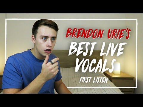 Listening to BRENDON URIE'S BEST LIVE VOCALS for the FIRST TIME | Reaction