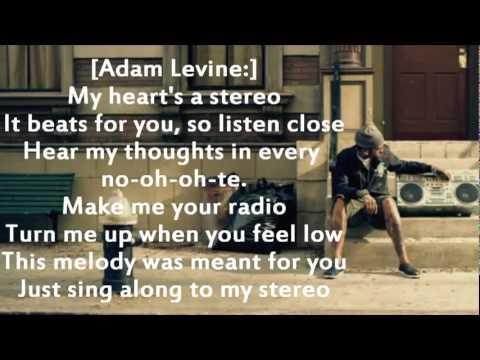 Gym Class Heroes ft Adam Levine - Stereo Hearts (Lyrics on screen) + download ringtone