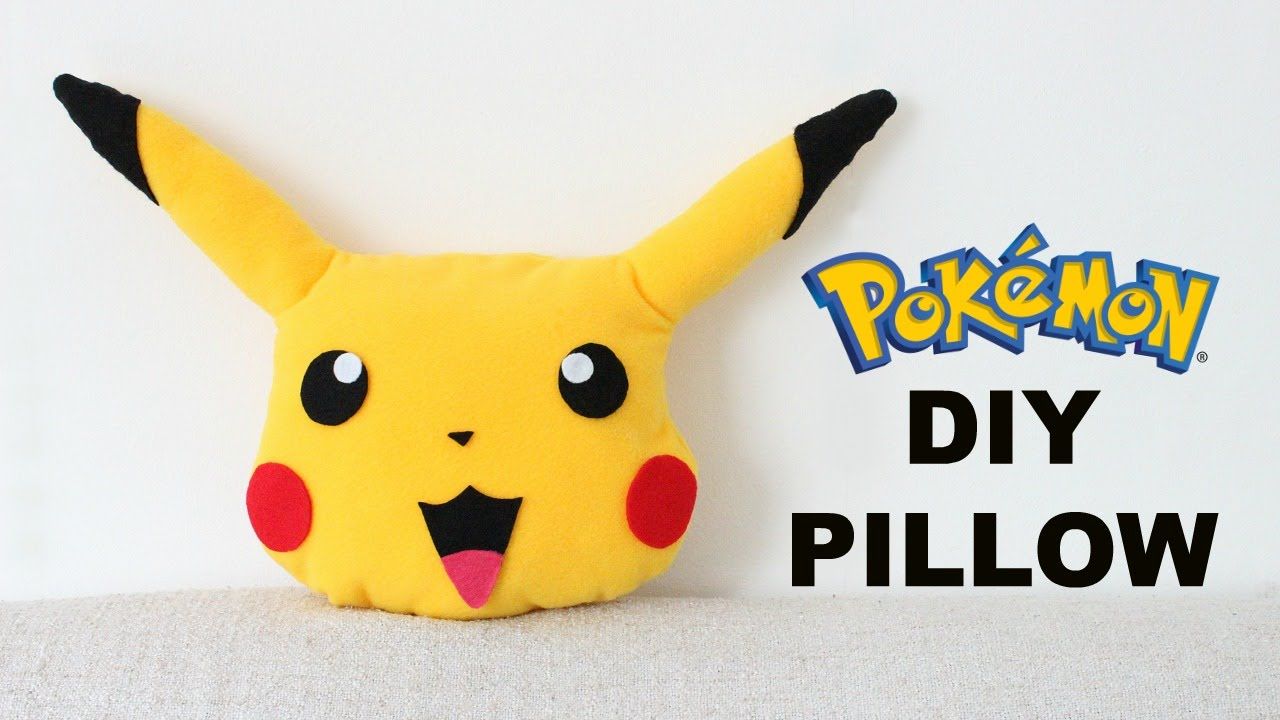 WHERE'S PIKACHU NOW?? DIY Pikachu Pillow | Pokemon Pillow ...