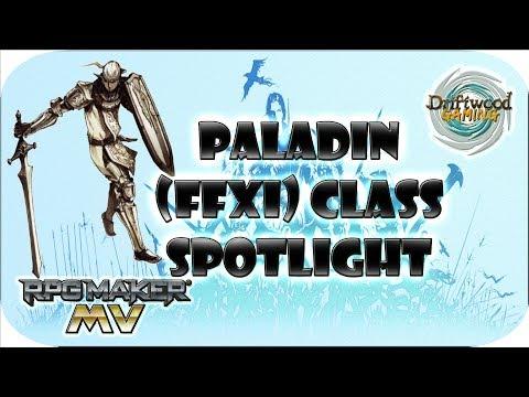 RPG Maker MV Tutorial - Paladin (FFXI) Class Spotlight - Final Fantasy XI PLD Job inside RPGMMV