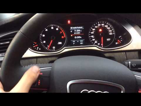 2014 Audi A4 Driver Display
