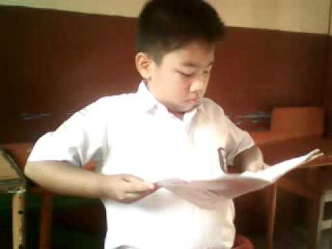 alvin pelajar kelas 4b sd mw.