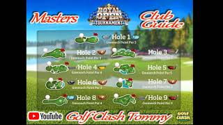 Golf Clash tips, CLUBGUIDE - Royal Open Tournament, Masters division