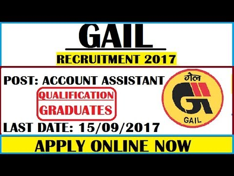 GOVERNMENT JOBS FOR GRADUATES AND PG    GAIL RECRUITMENT 2017   APPLY ONLINE NOW