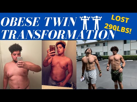 OBESE TWIN 3 YEAR TRANSFORMATION (CRAZY RESULTS)