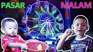 Asyiknya Naik Kincir Angin Bianglala di Pasar Malam | Fun by Bianglala Windmill at the Night Market