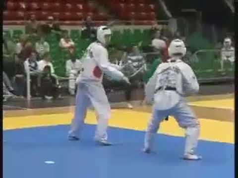 Taekwondo knockout   Spinning back kick highlight in Taekwondo