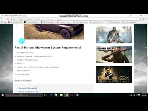 How to download  Fast and furious showdown...