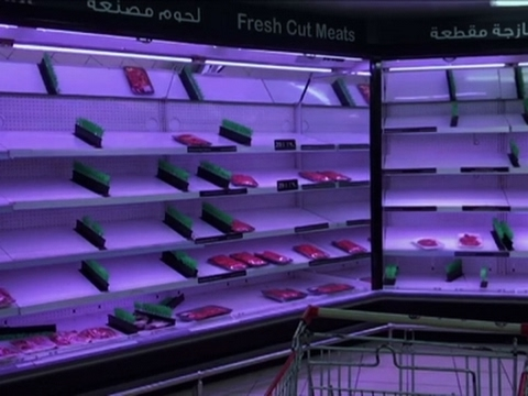Store Shelves Empty Amid Qatar Crisis