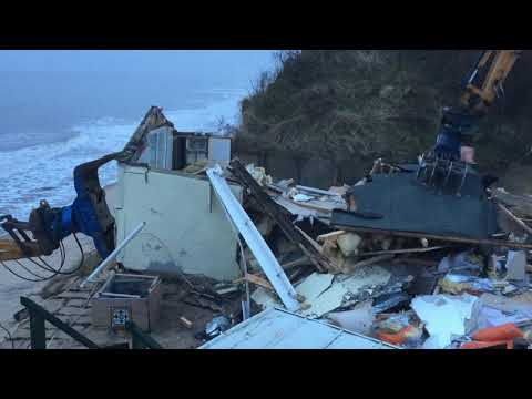 Another clifftop home in Hemsby is torn down