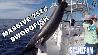 757# Swordfish! Massive Broadbill Swordfish with Capt. Nick Stanczyk!