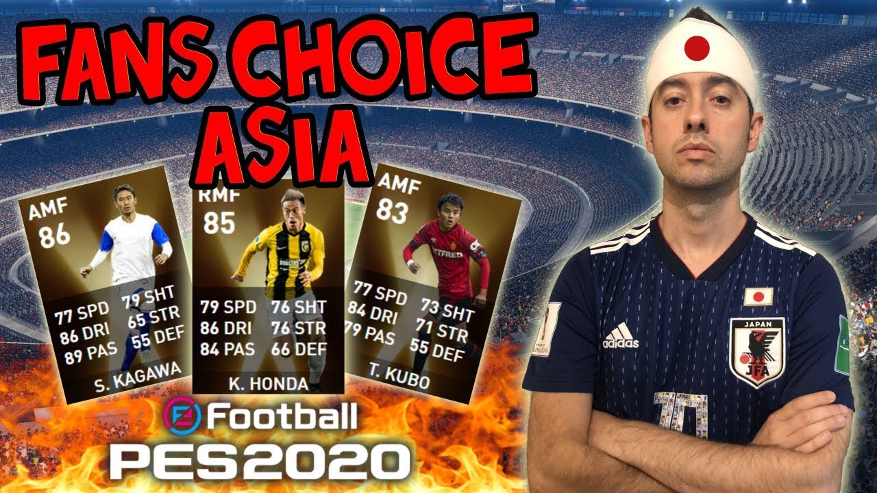 PACK OPENING Fans Choice ASIA a por + JAPONESES!! PES 2020 myClub