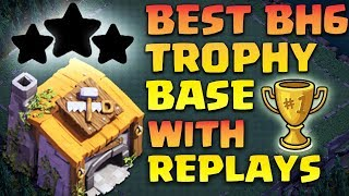Builder Hall 6 (Bh 6) Base 2018 Best Coc Bh6 Base With Replays Anti 1 Star Clash Of Clans