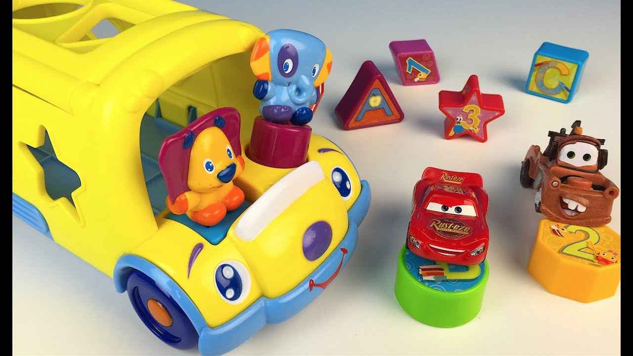 bright starts cruise n 39 sort bus with numbers shapes letters disney cars lightning mcqueen. Black Bedroom Furniture Sets. Home Design Ideas