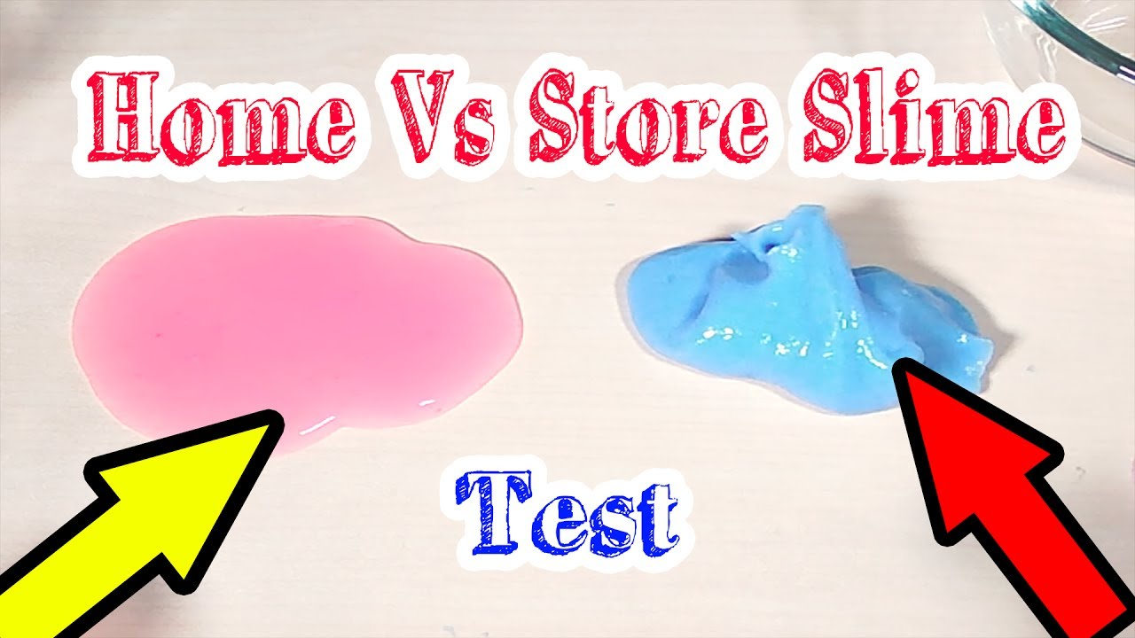 Store Vs HomeMade Slime Difference - No glue Store Slime