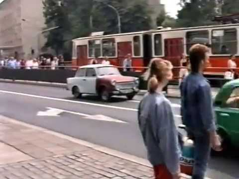 East Berlin Trabants & other classic cars 1989
