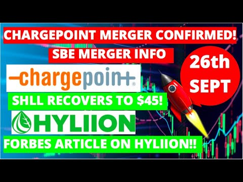 Download SHLL STOCK RECOVERS TO $45! I CHARGEPOINT (SBE STOCK) CONFIRM MERGER NEWS! I 2 HOT SPAC PLAYS