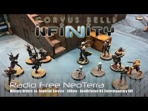 Radio Free NeoTerra - Infinity N3 Battle Report Ep 64 - Military Orders vs. Imperial Service