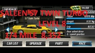 Repeat youtube video Drag Racing Saleen S7 Twin Turbo Level 8 Tune 8,352 1/4 Mile