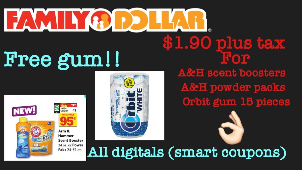 Family Dollar Easy Transaction Using All Digitals!! FREE GUM! 10/11/17